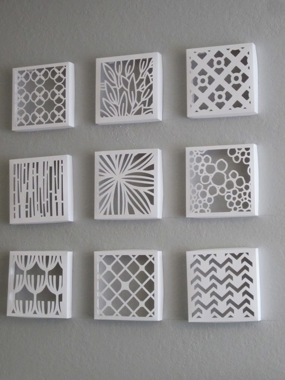 Fascinating 30 Grey And White Wall Decor Decorating Design Of Best Throughout White Wall Art (Image 5 of 20)