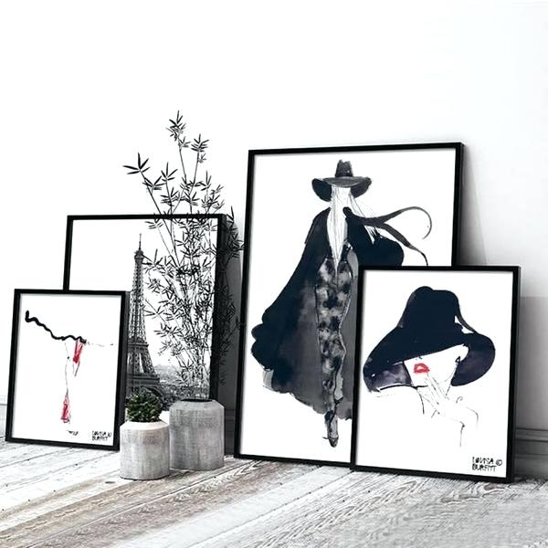 Fashion Canvas Art Fashion Wall Art Canvas Painting 5 Pieces For Fashion Wall Art (Image 8 of 20)