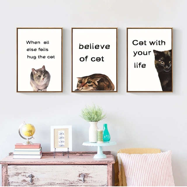 Featured Image of Cat Canvas Wall Art