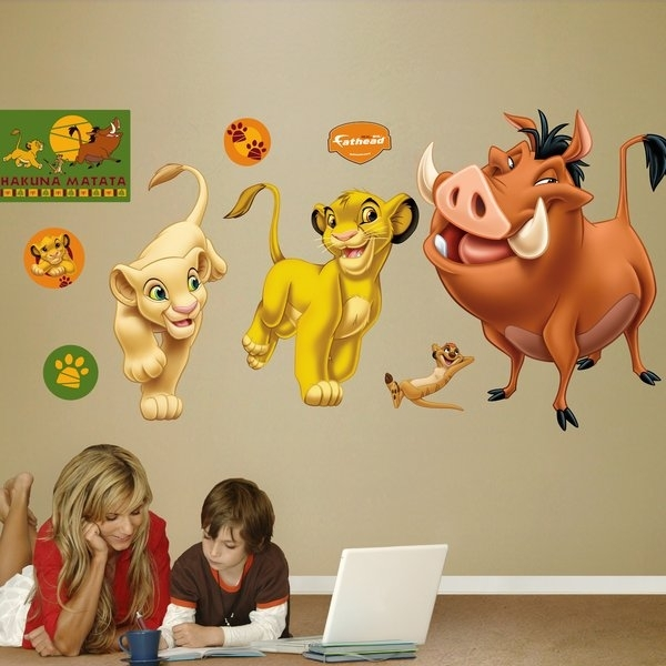 Fathead Disney Lion King Wall Decal | Wayfair With Lion King Wall Art (View 2 of 25)
