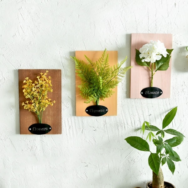 Faux Flower Wall Art – Apollobox For Flower Wall Art (Image 3 of 20)