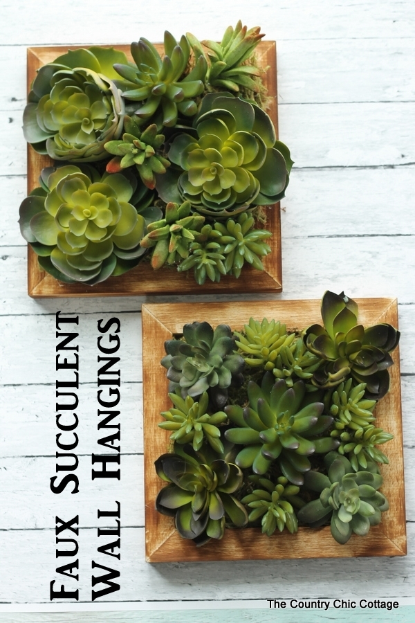 Faux Succulent Wall Art – The Country Chic Cottage Pertaining To Succulent Wall Art (Image 9 of 25)