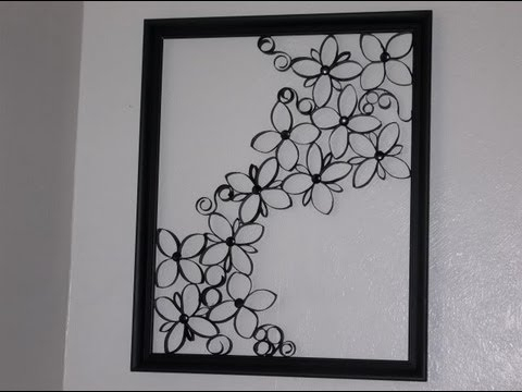 Faux Wrought Iron Wall Art For Under $5 – Youtube With Regard To Wrought Iron Wall Art (Image 5 of 10)