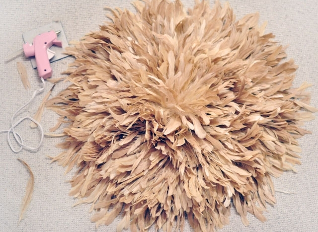 Feather Wall Art Diy African Juju Hat Tutorial | Love Maegan With Regard To Feather Wall Art (Image 8 of 25)