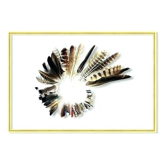 Feather Wall Art With Regard To Feather Wall Art (Image 9 of 25)