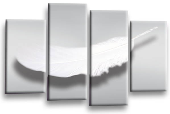 Feathers Canvas Wall Art For Gray Canvas Wall Art (View 20 of 25)