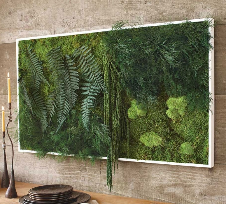 Fern And Moss Wall Art – The Green Head With Living Wall Art (Image 7 of 25)