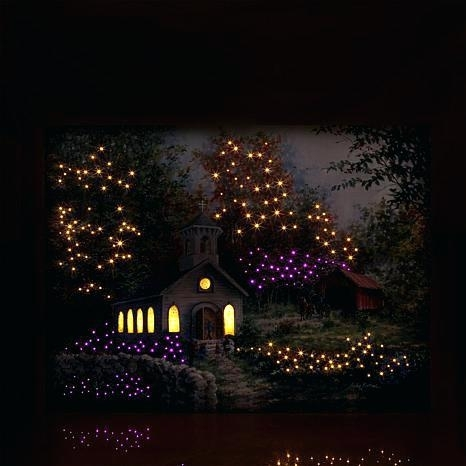 Fiber Wall Art Light Up Wall Art Winter Lane Fiber Optic Lit Canvas For Light Up Wall Art (View 18 of 25)