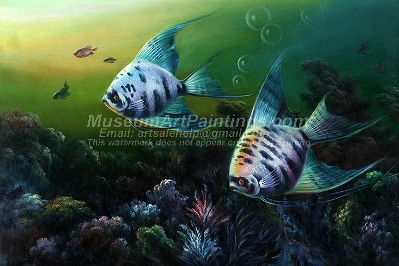 Fish Oil Paintings 008 In Fish Painting Wall Art (Image 15 of 25)