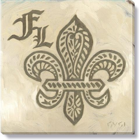 Fl Fleur De Lis Canvas Art Print In Fleur De Lis Wall Art (View 15 of 25)
