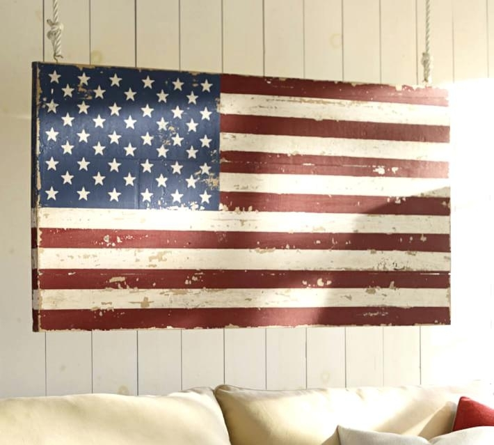 Flag Wall Art Vintage Wooden American Flag Wall Art – 7Thhouse Pertaining To Vintage American Flag Wall Art (Image 9 of 25)