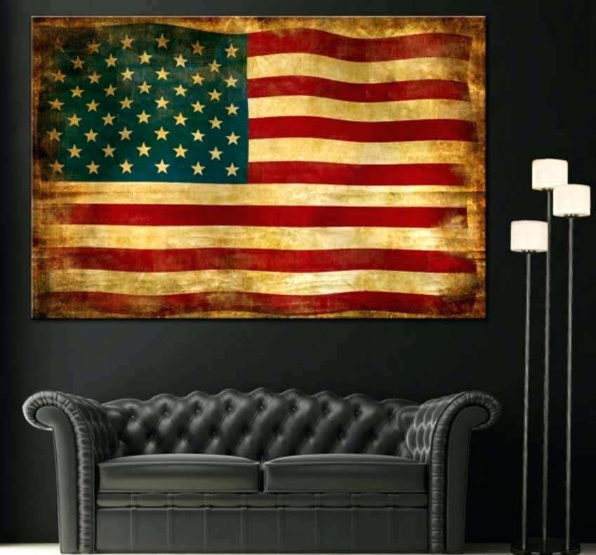 Featured Image of Vintage American Flag Wall Art