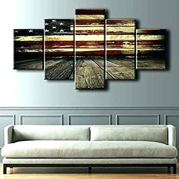 Flag Wall Art – Whatlieswithin With Rustic American Flag Wall Art (Image 10 of 25)