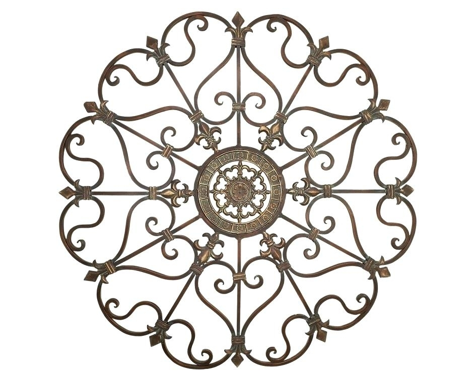 Fleur De Lis Metal Wall Art Art Metal Scroll Wall Art Medallion D With Regard To Metal Scroll Wall Art (View 5 of 20)