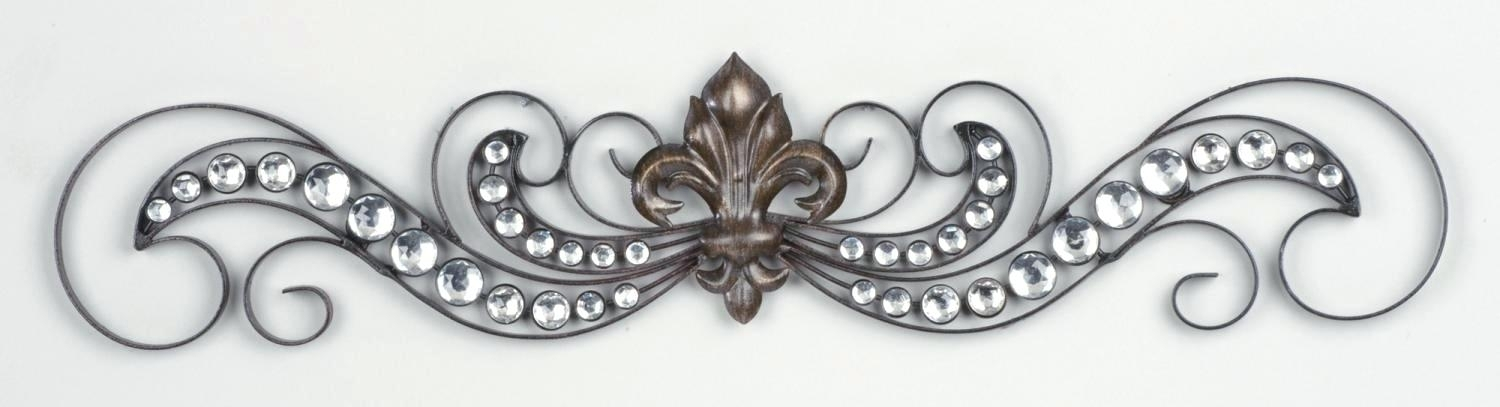 Fleur De Lis Mirror Wall Hanging Wall Art For Property With Metal With Regard To Fleur De Lis Wall Art (Image 8 of 25)