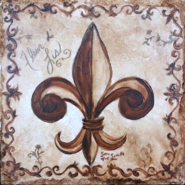 Fleur De Lis Wall Plaques Insi Wall Art For Property Fleur De Lis Inside Fleur De Lis Wall Art (Image 18 of 25)