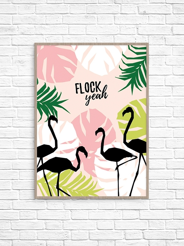 Flock Yeah Printable Wall Art – Make And Tell Within Printable Wall Art (Image 12 of 20)