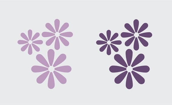 Floral Wall Design  Wall Decals & Stickers, Flower Grouping Vinyl Pertaining To Flower Wall Art (Image 4 of 20)
