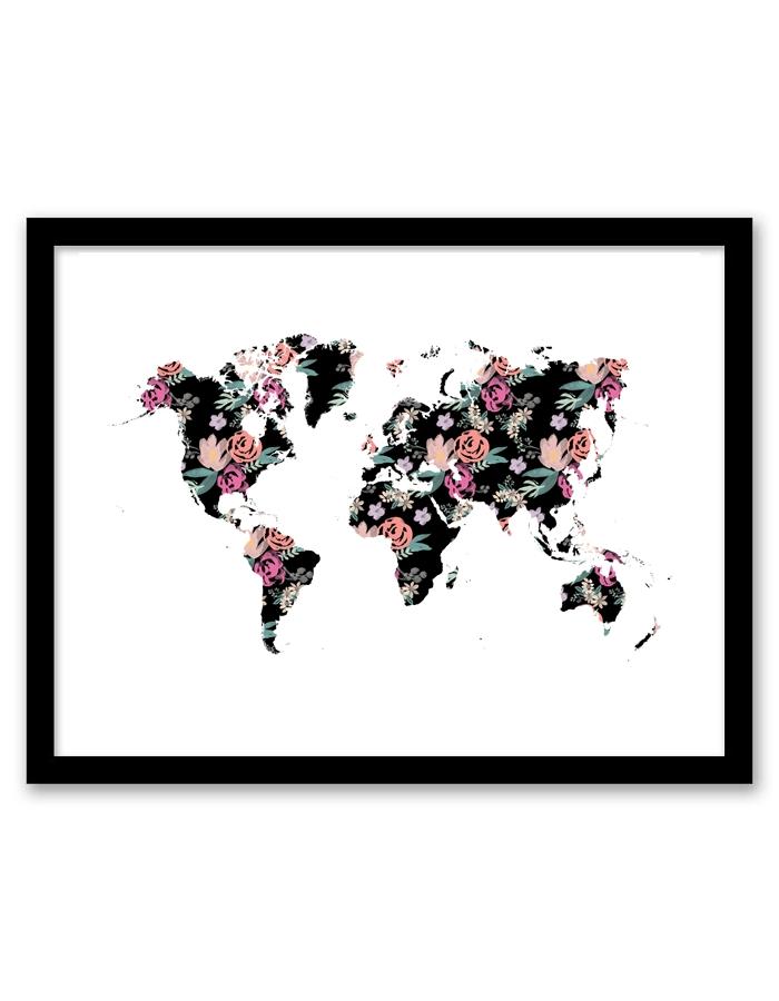 Floral World Wall Art – Free Printable Wall Art From | Printables With Regard To Free Printable Wall Art (View 14 of 20)