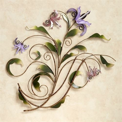 Floria Pastel Metal Flower Wall Sculpture | Touch Of Class Art With Regard To Touch Of Class Wall Art (Image 4 of 25)