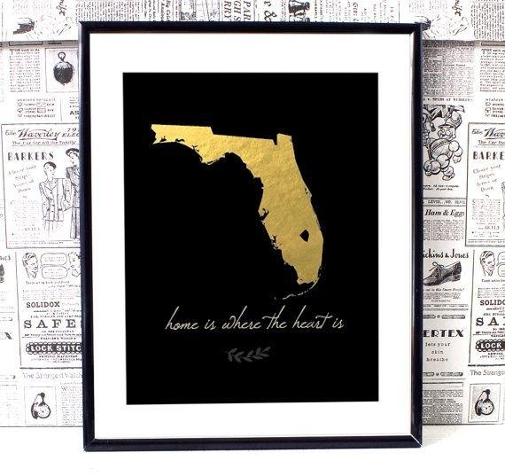 Florida Map Art, Florida Wall Art, Printable Wall Art, Printable In Florida Wall Art (View 3 of 20)