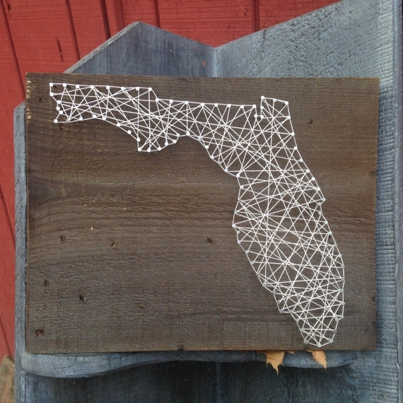 Florida State String Art – Can Be Customized – Nail Art – Wall Art With Florida Wall Art (Image 9 of 20)