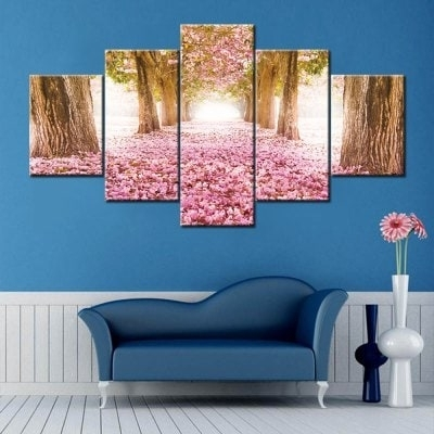 Flower Field Print Split Canvas Wall Art Paintings – $ (View 21 of 25)