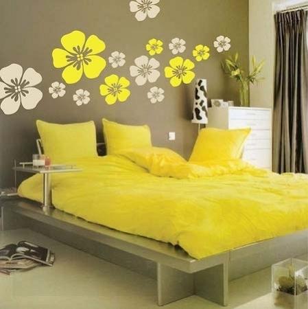 Flower Wall Art Design   Floral Wall Decals   Trendy Wall Designs Throughout Flower Wall Art (Image 7 of 20)