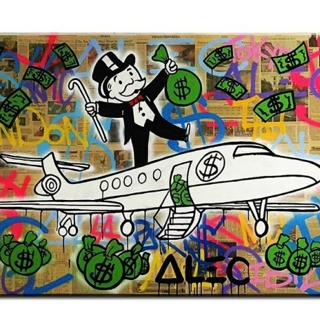 Fly Alec Monopoly Graffiti Mr Brainwashart Print Canvas For Wall Art With Cheap Framed Wall Art (View 17 of 25)