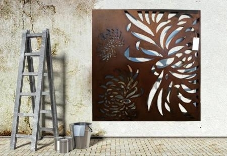 Flying Flora Outdoor Steel Wall Art Large Outdoor Art Steel Outdoor Inside Large Outdoor Metal Wall Art (Image 5 of 25)