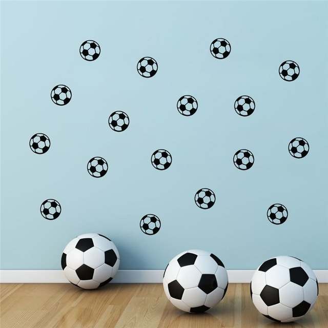 Football Kid Nursery Bedroom Wall Art Stickers Soccer Wall Sticker In Soccer Wall Art (View 20 of 25)