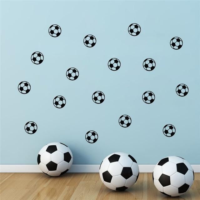 Football Kid Nursery Bedroom Wall Art Stickers Soccer Wall Sticker In Soccer Wall Art (Image 3 of 25)