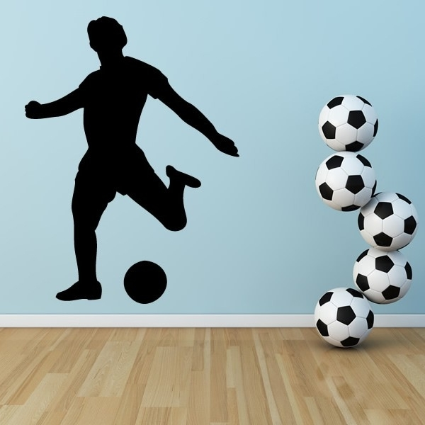 Football Striker Wall Stickers Sports Wall Art In Sports Wall Art (View 4 of 25)