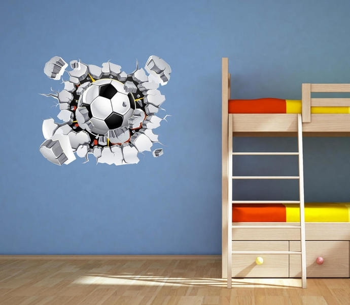 Football Wall Decal Soccer Wall Art Sticker Muralmysticky On Inside Soccer Wall Art (View 2 of 25)