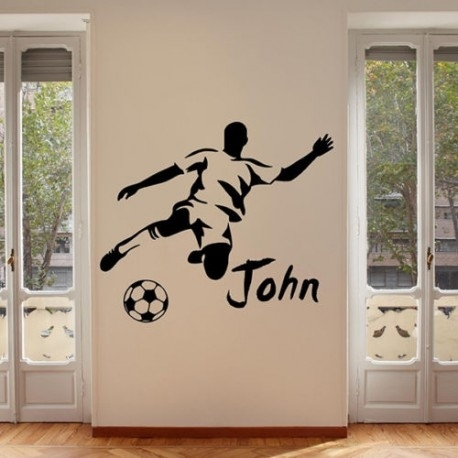 Football Wall Sticker Personalised Name Wall Stickers Wall Art Regarding Name Wall Art (View 23 of 25)
