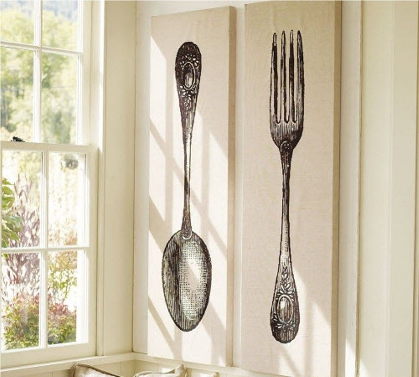 Fork And Spoon Wall Decor | Ideas For The House | Pinterest | Wall Pertaining To Fork And Spoon Wall Art (Image 6 of 25)