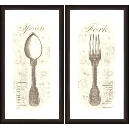 Fork Knife Spoon Wall Art Fork Wall Art Fork And Spoon Wall Art Inside Fork And Spoon Wall Art (Image 8 of 25)