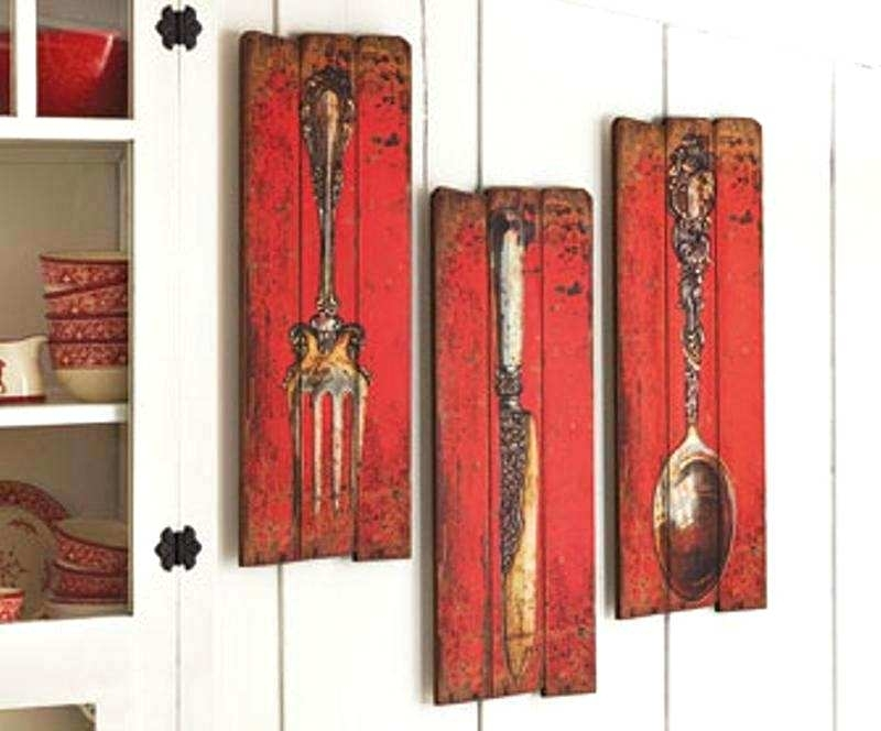 Fork Spoon Knife Wall Decor Knife Fork And Spoon Metal Wall Art Within Fork And Spoon Wall Art (Image 9 of 25)