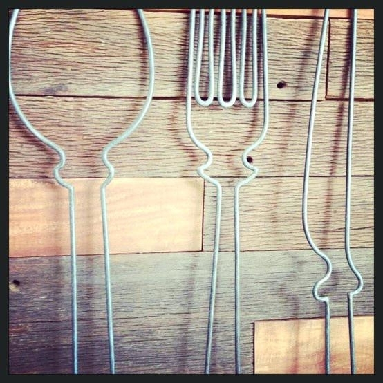 Fork Spoon Wall Decor Art Ideas Design Board With | Realvalue – Pertaining To Fork And Spoon Wall Art (Image 10 of 25)