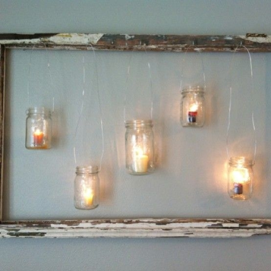Frame And Jar Functional Wall Art, Hanger Or Organizer: 7 Steps Throughout Mason Jar Wall Art (View 11 of 20)