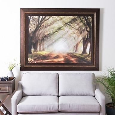 Framed Art For Living Room Luxury Evergreen Plantation Framed Print Regarding Framed Wall Art For Living Room (Image 6 of 25)