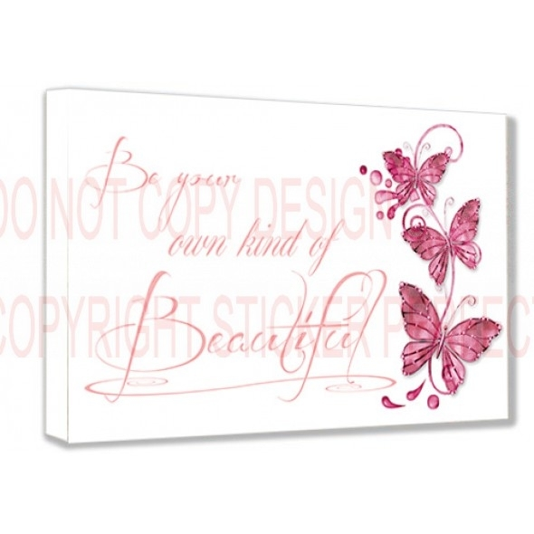 Framed Canvas Print #2 Be Your Own Kind Of Beautiful Inspirational With Regard To Be Your Own Kind Of Beautiful Wall Art (Image 7 of 10)