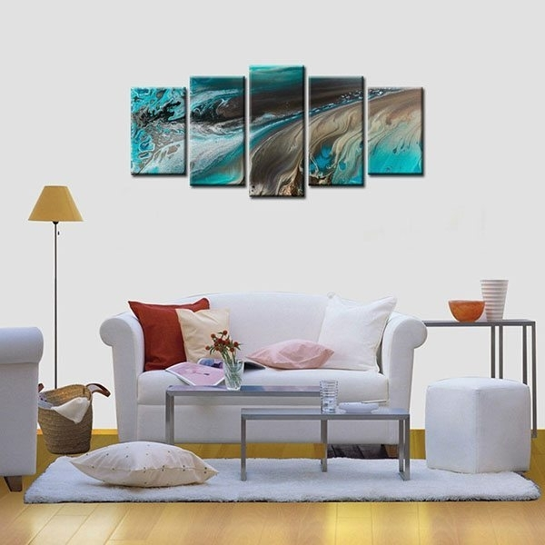 Framed Canvas Print Art Abstract Oil Painting Wall Canvas Art Home Throughout Wall Canvas Art (Image 8 of 10)