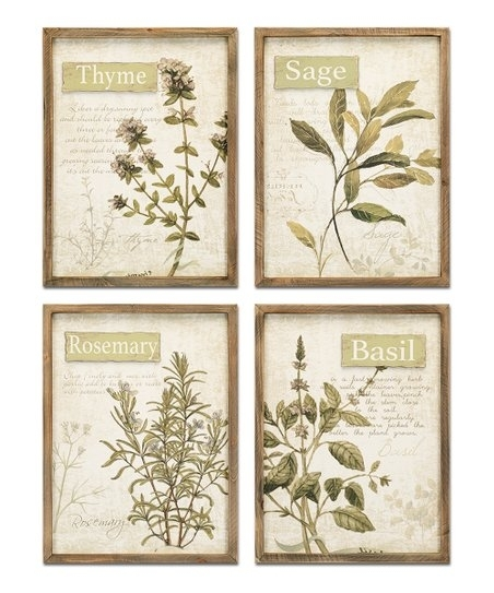 Framed Herb Wall Art – Set Of Four | Zulily With Regard To Herb Wall Art (Image 3 of 20)