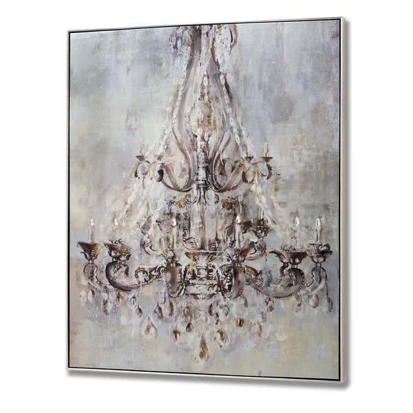 Framed Metalic Chandelier Wall Art With Metal Studs From Hill Interiors Regarding Chandelier Wall Art (Image 10 of 20)