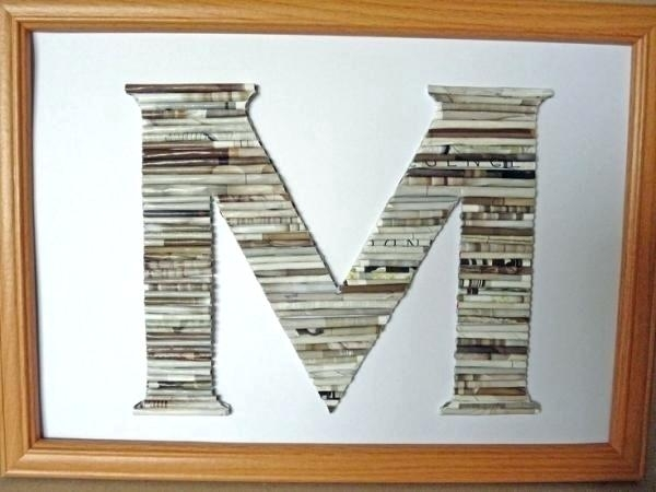 Framed Monogram Wall Art – Chastaintavern (Image 9 of 25)