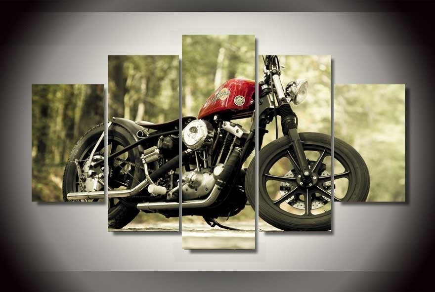 Framed Motorcycle Wall Art : Andrews Living Arts – Perfect Ideas With Regard To Motorcycle Wall Art (Image 6 of 25)