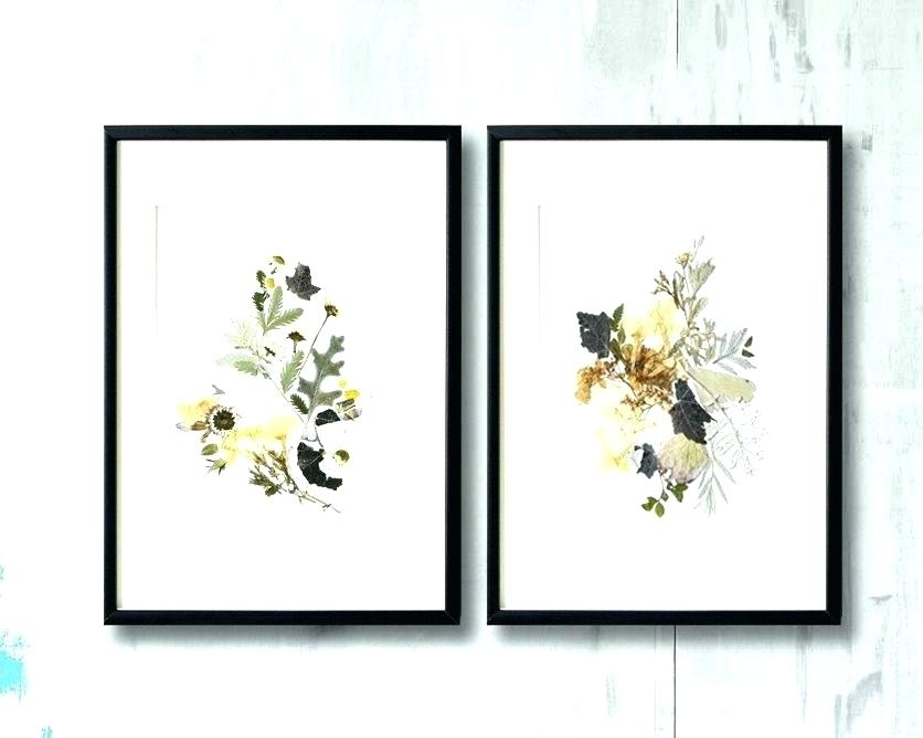 Framed Wall Art Sets Floral Wall Art Sets Floral Framed Wall Art Set Pertaining To Set Of 2 Framed Wall Art (View 6 of 25)
