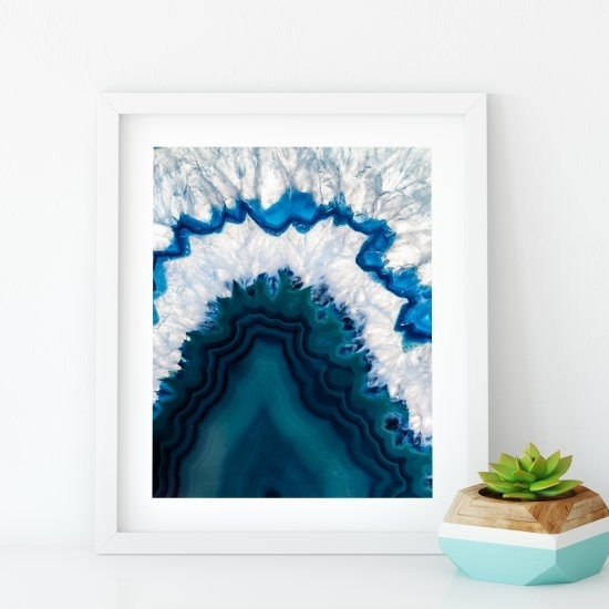 Free Blue Agate Wall Art Print | Craftgawker Pertaining To Agate Wall Art (Photo 14 of 25)
