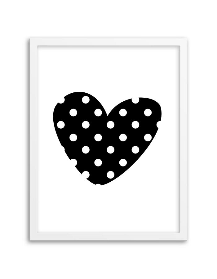 Free Printable Polka Dot Heart Wall Art Inside Free Printable Wall Art (View 13 of 20)